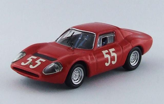 BEST MODEL 1/43 アバルト OT 1300 1966 モンツァ Baghetti/Cella/Fischhaber/Furtmayr  #55