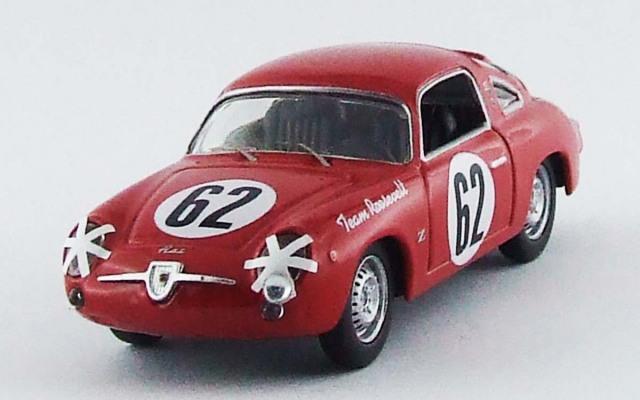BEST MODEL 1/43 フィアット 750 アバルト セブリング12H 1959 Cussini/Cattini #62
