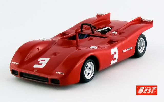 BEST MODEL 1/43 アバルト 2000SP 1970 ヨーロッパ 2リッター選手権 ザルツブルク D. Quester