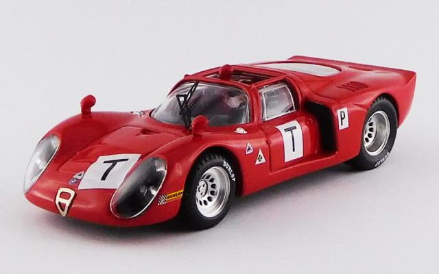 BEST MODEL 1/43 アルファロメオ 33.2 ル・マン テスト 1968 Bianchi/Zeccoli/Grosselin/Trosch