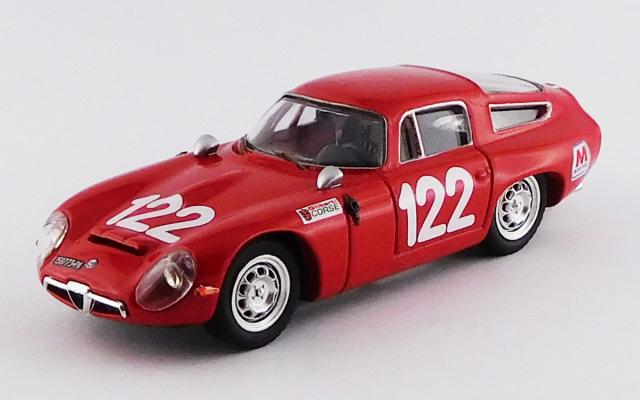 BEST MODEL 1/43 アルファロメオ TZ1 タルガフローリオ 1966 #122 Lo Piccolo/Sutera スクーデリア ペガソ