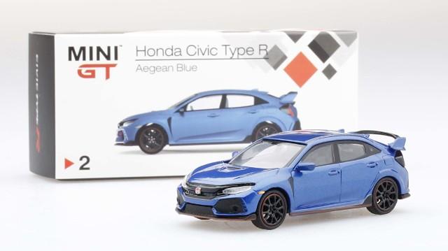 MINI GT 1/64 Honda シビック Type R Aegean Blue (左ハンドル)