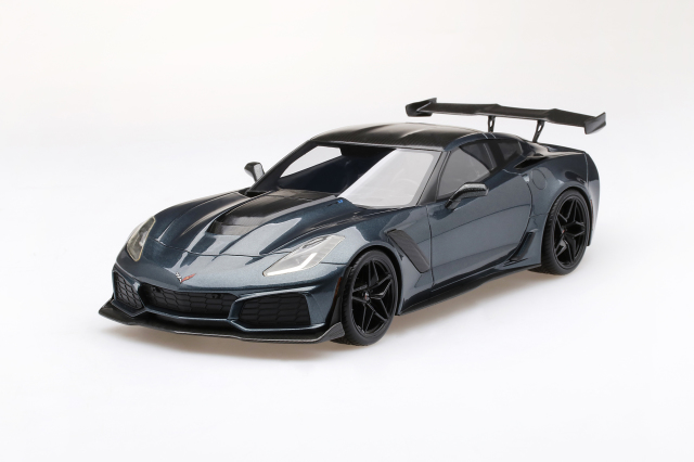 Top Speed 1/18 シボレー コルベット ZR-1 シャドーグレーメタリック
