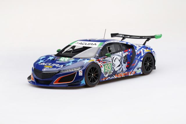 "Top Speed 1/18 Acura NSX GT3 IMSA チャンピオンシップ ワトキンスグレン 2017 #93 ""Statue of Liberty"""