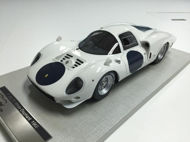 TECNOMODEL 1/18 フェラーリ 365 P ホワイト エレファント プレスVer 1966