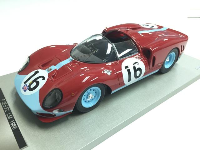 TECNOMODEL 1/18 フェラーリ 365 P2 ル・マン 1966 マラネロ・コンセッショネアーズチーム # 16 Driver  R. Attwood/ D. Piper