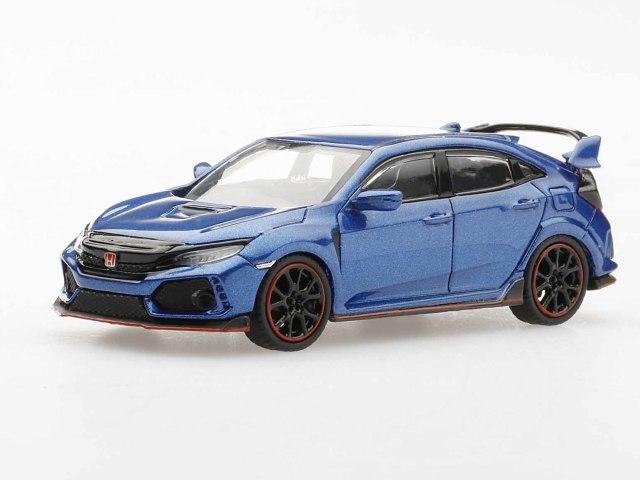 MINI GT 1/64 Honda シビック Type R ブリリアント スポーティブルー・メタリック (右ハンドル)