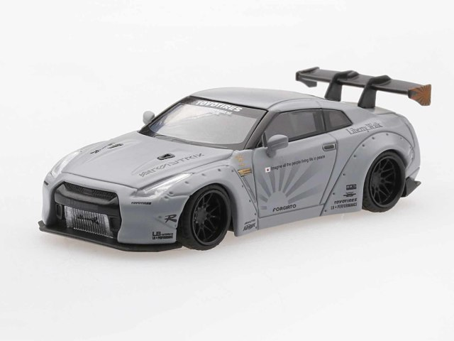 MINI GT 1/64 LB★WORKS Nissan GT-R R35 GTウイング マットグレー (右ハンドル)