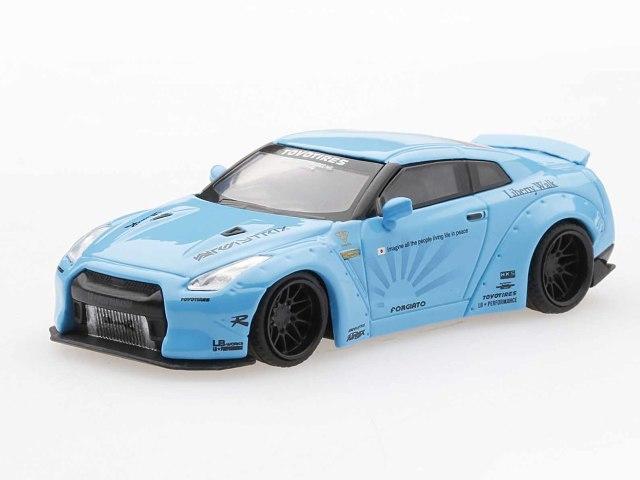 MINI GT 1/64 LB★WORKS Nissan GT-R R35 ダックテール ライトブルー (右ハンドル)