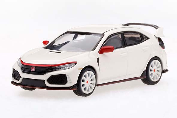 MINI GT 1/64 Honda シビック Type R チャンピオンシップホワイト/モデューロキット装着車 (右ハンドル)