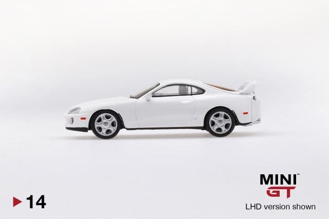 MINI GT 1/64 Toyota スープラ(JZA80) スーパーホワイト(右ハンドル)