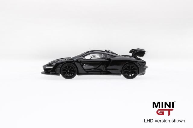 MINI GT 1/64 マクラーレン セナ オニキスブラック (右ハンドル)