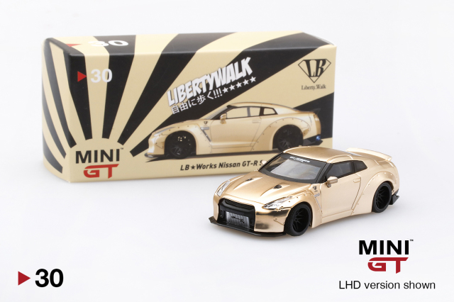 MINI GT 1/64 LB★WORKS Nissan GT-R R35 サテンゴールド USA限定