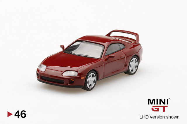 MINI GT 1/64 Toyota スープラ(JZA80) ルネサンスレッド(右ハンドル)