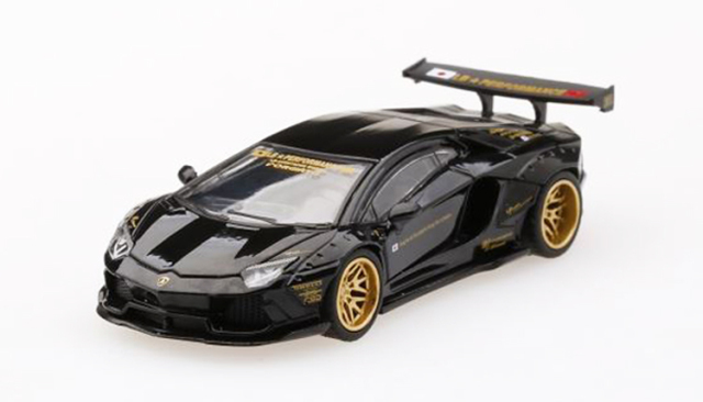 MINI GT 1/64 LB★WORKS ランボルギーニ アヴェンタドール ブラック(右ハンドル)