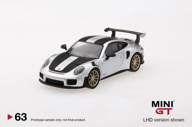 MINI GT 1/64 ポルシェ 991ターボ GT2RS シルバーメタリック(右ハンドル)