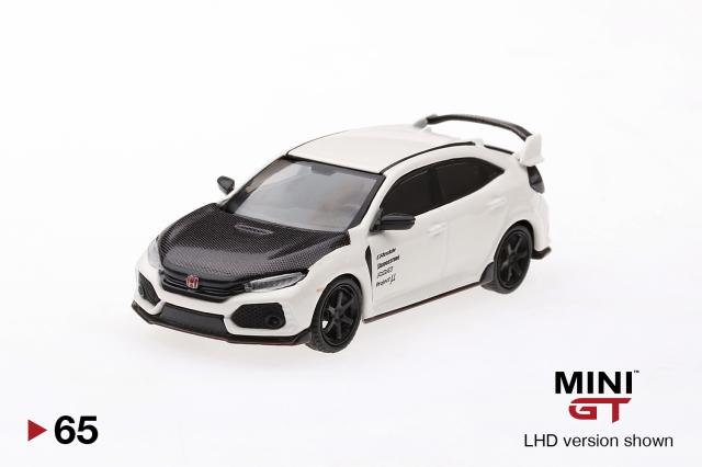 MINI GT 1/64 Honda シビック Type R チャンピオンシップホワイト w/ Carbon Kit & TE37 Wheel (右ハンドル)