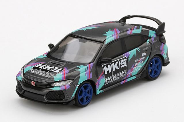 MINI GT 1/64 Honda シビック Type R HKS 2018 タイムアタック(左ハンドル)