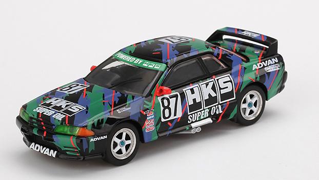 MINI GT 1/64 Nissan スカイライン GT-R R32 HKS 全日本ツーリングカー選手権 1993 Gr.A #87(右ハンドル)