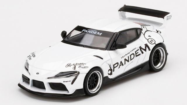 MINI GT 1/64 Pandem Toyota GR スープラ V1.0 ホワイト(左ハンドル)