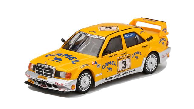 "MINI GT 1/64 メルセデス ベンツ 190E 2.5-16 エボリューション II Yellow Pages 200 Kyalami 1990 #3 ""Camel""(左ハンドル)"