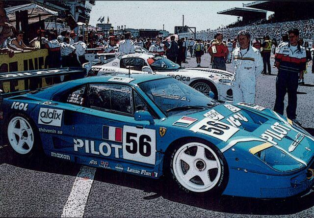 【予約】BBR 1/18 Ferrari F40 LM Le Mans 1996 Pilot Pen Racing(ケース付)
