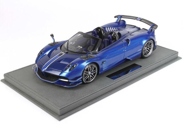 【予約】 BBR 1/18 Pagani Huayra Roadster BC Special Metallic Blu(ケース付)