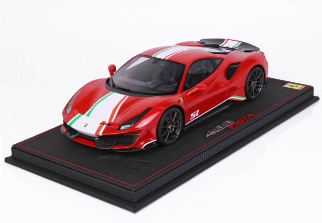 【予約】 BBR 1/18 Ferrari 488 Pista Piloti Ferrari Rosso Corsa 322(ケース付)