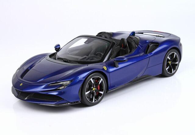 【予約】BBR 1/18 Ferrari SF90 Spider Met Blu Elettrico(ケース付)