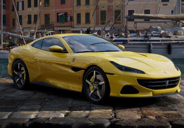 【予約】BBR 1/43 Ferrari Portofino M Spider Closed Roof Giallo Modena