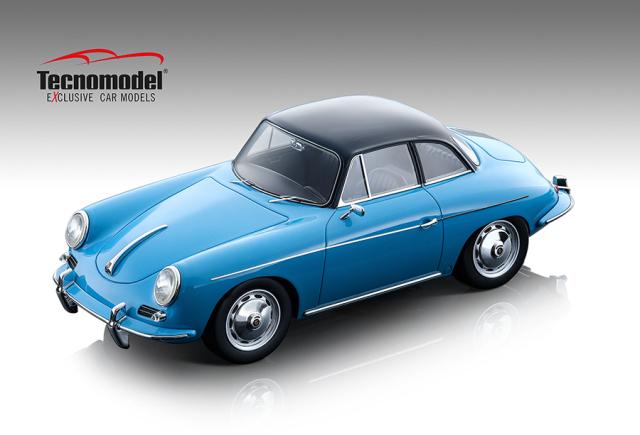 Tecnomodel 1/18 ポルシェ 356 カルマン ハードトップ 1961 グロスライトブルー/ブラックトップ