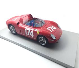 TECNOMODEL 1/18 フェラーリ 250 P タルガ・フローリオ # 174 1963 Driver Vaccarella