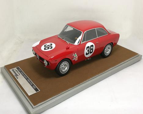 TECNOMODEL 1/18 アルファ ロメオ ジュリア 1600 スプリント GTA セブリング 1966 #36 J.Rindth