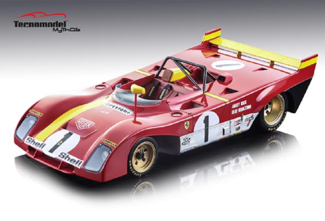 TECNOMODEL 1/18 フェラーリ 312 PB モンツァ 1000km 1972 優勝車 #1 J.Ickx/C.Regazzoni