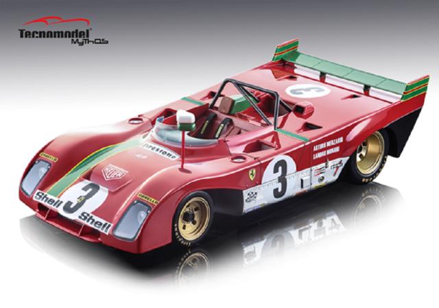TECNOMODEL 1/18 フェラーリ 312 PB タルガ フローリオ1972 優勝車 #3 A.Merzario/S.Munari