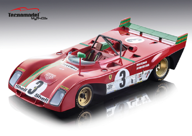 TECNOMODEL 1/18 フェラーリ 312 PB 1000km スパ 1972 優勝車 #3 B. Redman/A.Merzario
