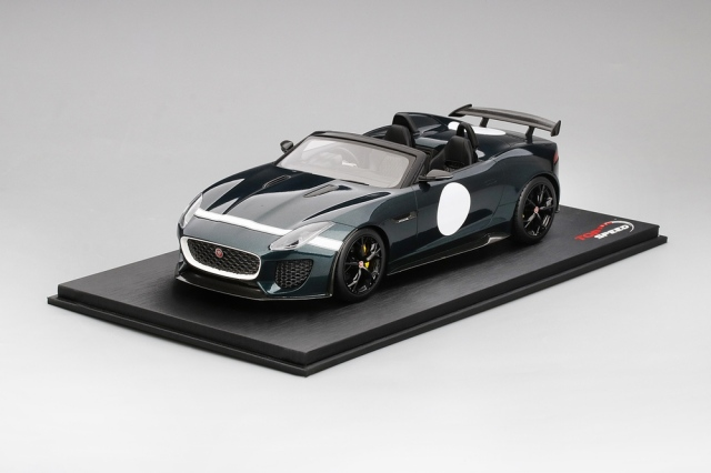 Top Speed 1/18 ジャガー F-タイプ プロジェクト 7 ブリティッシュ レーシング グリーン メタリック