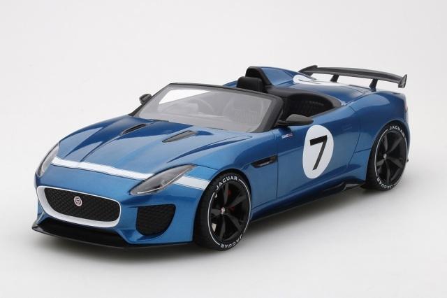 Top Speed 1/18 ジャガー F-タイプ プロジェクト 7 コンセプト エキュリーエコスブルー