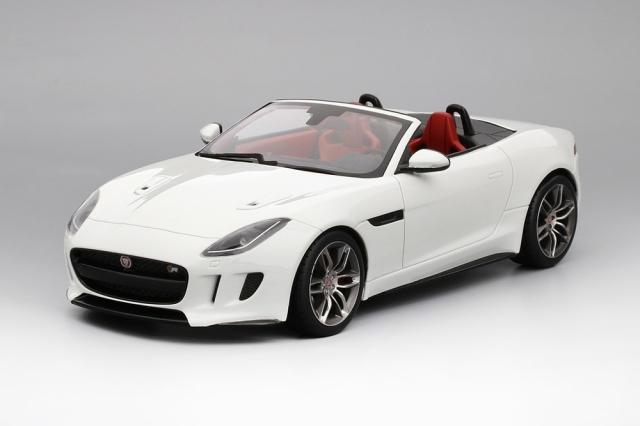Top Speed 1/18 ジャガー F-タイプ R コンパーチブル ポラリス ホワイト