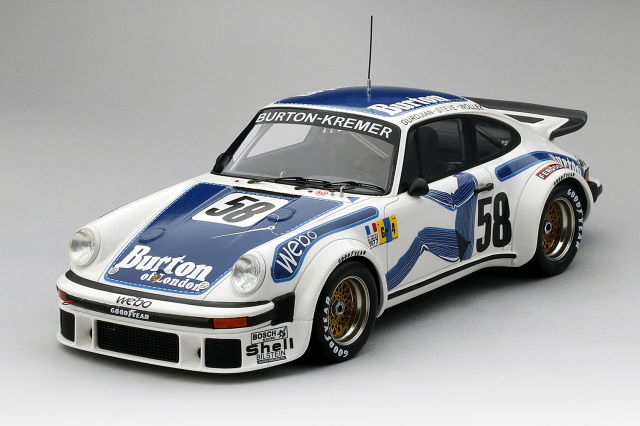 "Top Speed 1/18 ポルシェ 934 ル・マン 1977 #58 GT クラス 優勝車 ポルシェ クレーマーレーシング B. Wollek / P. Gurdjian / ""Steve"""