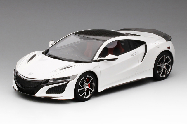 Top Speed 1/18 ホンダ NSX 2017 130R ホワイト/カーボン ファイバー パッケージ (RHD)