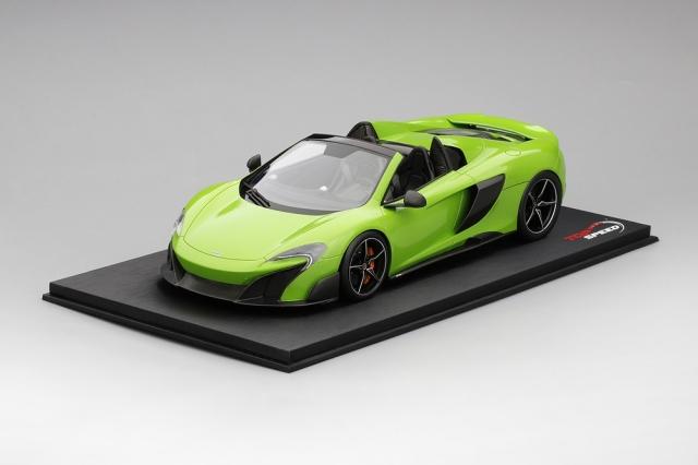 Top Speed 1/18 マクラーレン 675LT スパイダー マンティス グリーン