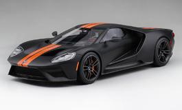 Top Speed 1/18 フォード GT マットブラック/コンペティション オレンジ ストライプ