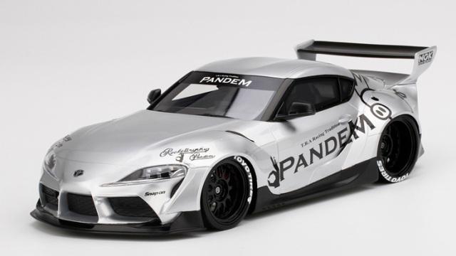 Top Speed 1/18 Pandem GR スープラ V1.0 シルバー