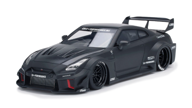 Top Speed 1/18 LB-Silhouette WORKS GT Nissan 35GT-RR マットブラック