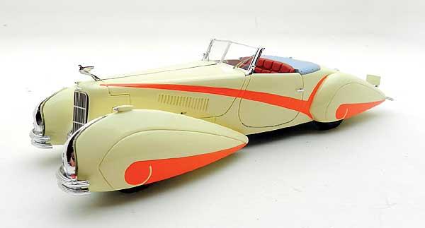 "TSM MODEL 1/43 キャディラック V16 ハートマン ロードスター 1934 クリーム/ホワイト ""Original Specfication"""