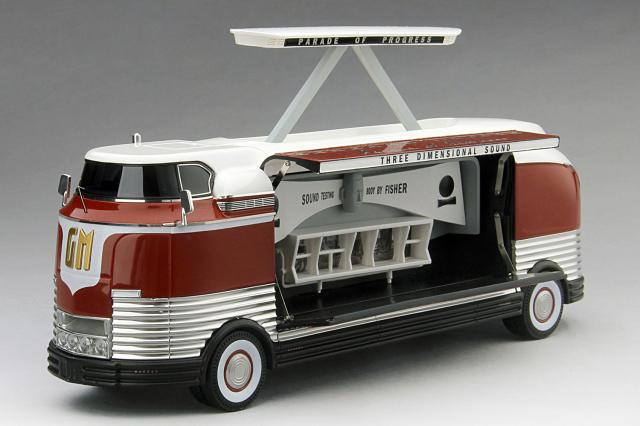 "TSM MODEL 1/43 GMフューチャーライナー 1954 ""Three Dimensional Sound"" GM Parade of Progress 限定500台"