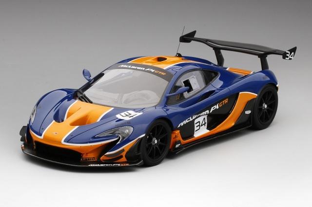 TSM MODEL 1/18 マクラーレン P1 GTR ブルー/オレンジ