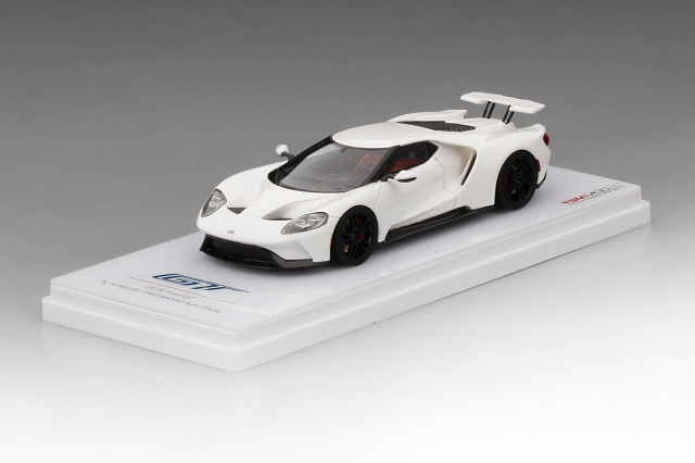 TSM MODEL 1/43 フォード GT フローズンホワイト レースモデル 北米国際自動車ショー 2016