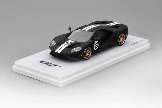 TSM MODEL 1/43 フォード GT ヘリテージエディション マットブラック/ホワイトストライプ